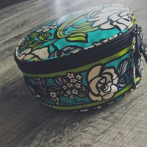 Vera Bradley Hatbox Cosmetic Bag in Island Blooms